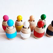 Мягкие игрушки ручной работы. Ярмарка Мастеров - ручная работа Человечки в бочонках 8 цветов. Handmade.