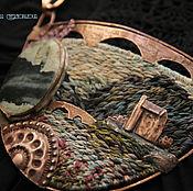 """Украшения ручной работы. Ярмарка Мастеров - ручная работа """"Eilean Donan Castle"""" колье медь, вышивка. Handmade."""
