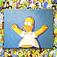 Юмор ручной работы. Ярмарка Мастеров - ручная работа. Купить Гомер Симпсон. Картина для любителей Симпсонов. Handmade. Синий