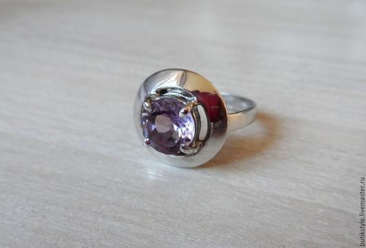 Кольца ручной работы. Ярмарка Мастеров - ручная работа. Купить Серебряное кольцо с натуральным аметистом. Handmade. Серебро 925 пробы