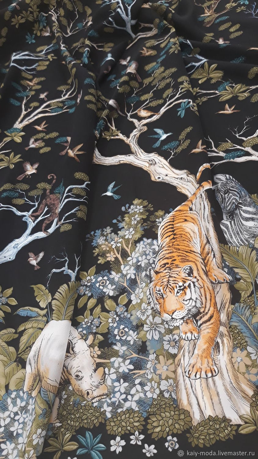 c4e66be2 Sewing handmade. Livemaster - handmade. Buy Coupon silk Dior - print tigers.