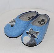 """Обувь ручной работы. Ярмарка Мастеров - ручная работа Тапочки валяные """"Крошка Енот""""  39р. в наличии. Handmade."""