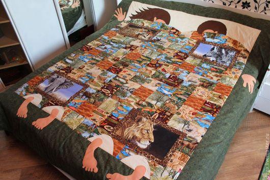"""Текстиль, ковры ручной работы. Ярмарка Мастеров - ручная работа. Купить Лоскутное покрывало """"Мужское хобби"""" № 150. Handmade."""