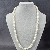 Работы для детей, handmade. Livemaster - original item Natural white pearl beads in the shape of