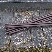 Фен-шуй и эзотерика handmade. Livemaster - original item Brown wax candle 18 cm. Handmade.