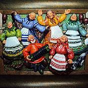 """Картины и панно ручной работы. Ярмарка Мастеров - ручная работа """"Первый парень"""". Handmade."""
