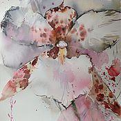 Картины и панно ручной работы. Ярмарка Мастеров - ручная работа Акварель Орхидея. Handmade.