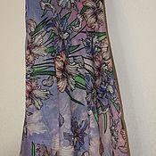 Ткани ручной работы. Ярмарка Мастеров - ручная работа Ткань: лоскут павловопосадский для палантина. Handmade.