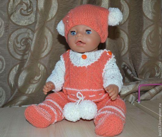 Одежда для кукол ручной работы. Ярмарка Мастеров - ручная работа. Купить Теплый костюм. Handmade. Одежда для кукол, детская пряжа