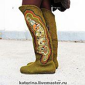 Обувь ручной работы handmade. Livemaster - original item Boots valenki from felt