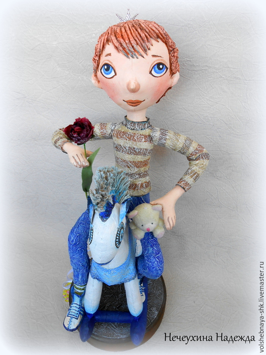 Коллекционные куклы ручной работы. Ярмарка Мастеров - ручная работа. Купить Принц на белом коне. Авторская интерьерная кукла. Статуэтка. Handmade.
