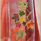 """Для дома и интерьера ручной работы. Ярмарка Мастеров - ручная работа Ваза """"Осенний клен"""". Handmade."""