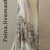 Одежда ручной работы. Ярмарка Мастеров - ручная работа Платье из шелковой вуали для вечера Пепел розы. Handmade.