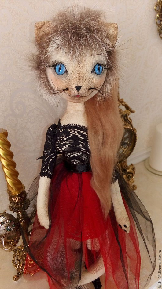 Куклы Тильды ручной работы. Ярмарка Мастеров - ручная работа. Купить Принцесса сиамская. Handmade. Ярко-красный, бязь, кружево