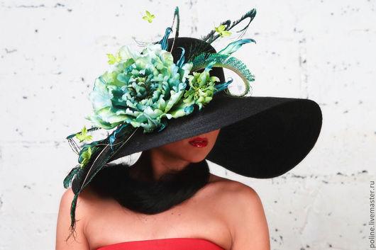 """Шляпы ручной работы. Ярмарка Мастеров - ручная работа. Купить Широкополая шляпа """"Анжелина"""". Handmade. Вечерняя шляпка, сизаль"""