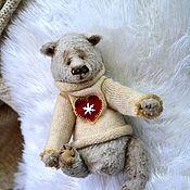 Куклы и игрушки ручной работы. Ярмарка Мастеров - ручная работа Михасик лиловый в свитере. Handmade.