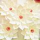 Подарки на свадьбу ручной работы. Ярмарка Мастеров - ручная работа. Купить Цветок из бумаги Остролист. Handmade. Белый, цветок из бумаги