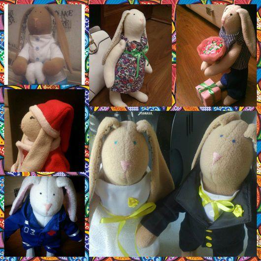 Куклы Тильды ручной работы. Ярмарка Мастеров - ручная работа. Купить Зайцы в стиле Тильда. Handmade. Тильда заяц, заяц