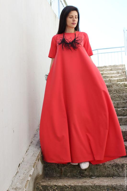 """Платья ручной работы. Ярмарка Мастеров - ручная работа. Купить Длинное Платье """"Spring Life - Coral"""" D0026. Handmade."""