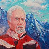 Картины и панно ручной работы. Ярмарка Мастеров - ручная работа Портрет лыжника. Handmade.