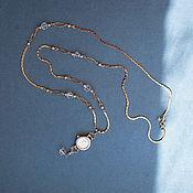 "Украшения handmade. Livemaster - original item pendent watch ""Three colors - the earth, air, the sun"". Handmade."