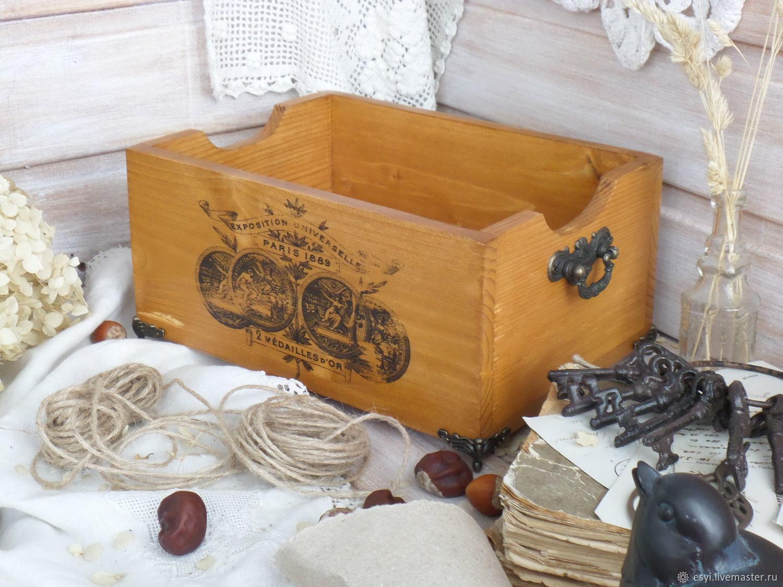"""Деревянный короб для хранения """"Antique"""". Из сосны, Корзины, Москва, Фото №1"""