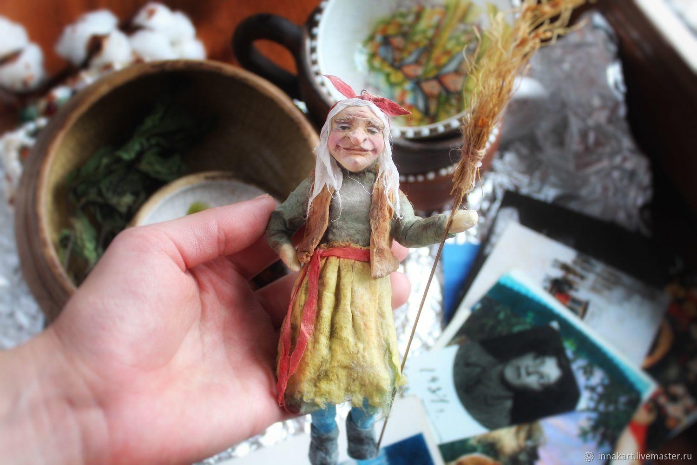 Baba Yaga / cotton toy, Christmas decorations, Nizhny Novgorod,  Фото №1