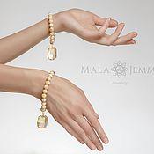 Украшения handmade. Livemaster - original item 1 pair of Bracelets in Gold Sand. Handmade.