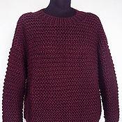 """Одежда ручной работы. Ярмарка Мастеров - ручная работа Пуловер """"Бургундия"""". Handmade."""