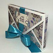Открытки ручной работы. Ярмарка Мастеров - ручная работа Конверт-коробка От всей души. Handmade.