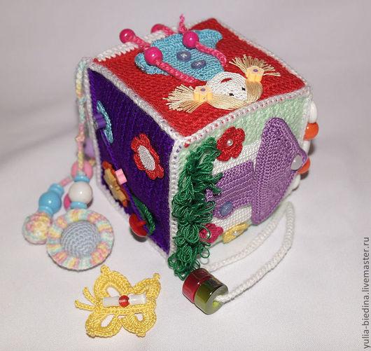 """Развивающие игрушки ручной работы. Ярмарка Мастеров - ручная работа. Купить Развивающий кубик """"Радуга"""" (6m+). Handmade. Развивающая игрушка"""