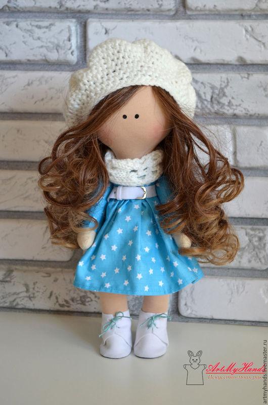 Коллекционные куклы ручной работы. Ярмарка Мастеров - ручная работа. Купить Интерьерная куколка в берете. Handmade. Кукла, купить подарок