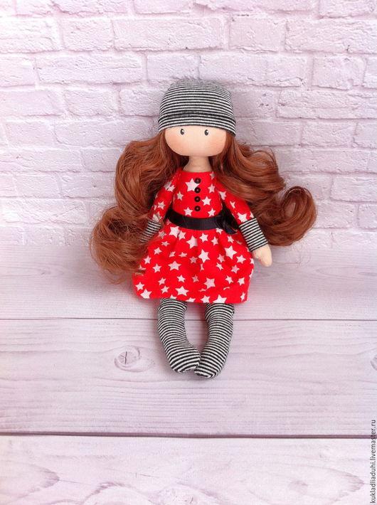 Коллекционные куклы ручной работы. Ярмарка Мастеров - ручная работа. Купить Эльза интерьерная кукла. Handmade. Ярко-красный, тыквоголовка