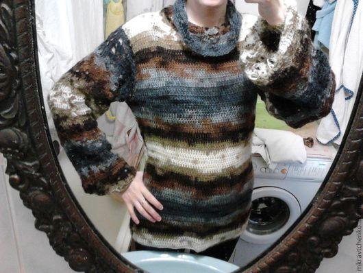 Кофты и свитера ручной работы. Ярмарка Мастеров - ручная работа. Купить Пуловер из мохера. Handmade. В полоску, мохер, осень