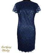 Одежда handmade. Livemaster - original item Lace dress Blue night.. Handmade.