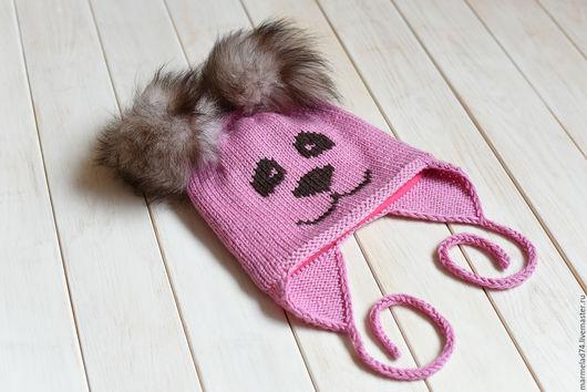 Шапки и шарфы ручной работы. Ярмарка Мастеров - ручная работа. Купить РАСПРОДАЖА! Зимняя шапочка для Принцессы. Handmade. Розовый