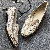 Обувь ручной работы handmade. Livemaster - original item IN STOCK-Women`s Python Moccasins. Handmade.