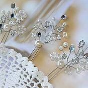Свадебный салон ручной работы. Ярмарка Мастеров - ручная работа Свадебные шпильки, украшение для свадебной прически. Handmade.