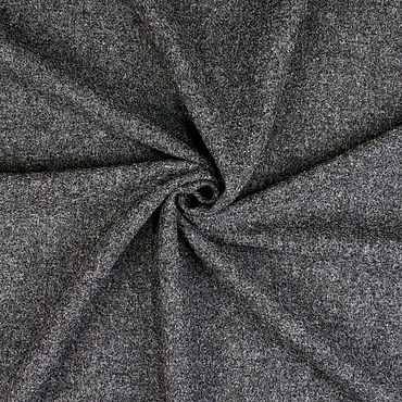 Materials for creativity handmade. Livemaster - original item Fabric: Wool coat fabric dark gray. Handmade.