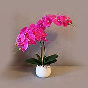Цветы и флористика ручной работы. Ярмарка Мастеров - ручная работа Орхидея яркая. Handmade.