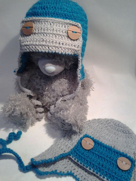 Шапки и шарфы ручной работы. Ярмарка Мастеров - ручная работа. Купить Шапка-ушанка для мальчика. Handmade. Серый, шапочка для фотосессии