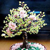 Подарки к праздникам ручной работы. Ярмарка Мастеров - ручная работа Дерево из бисера- цветущий бонсай.. Handmade.