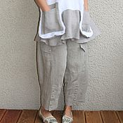 Одежда ручной работы. Ярмарка Мастеров - ручная работа льняные брюки. Handmade.