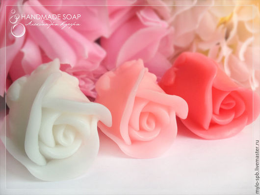 """Мыло ручной работы. Ярмарка Мастеров - ручная работа. Купить """"Бутон розы"""", мыло ручной работы. Handmade. Разноцветный"""