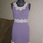 Одежда ручной работы. Ярмарка Мастеров - ручная работа Сиреневое платье. Handmade.