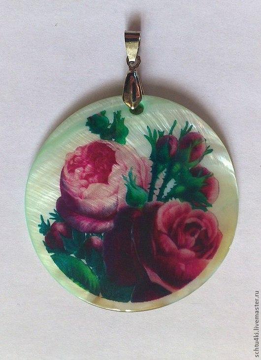 Кулоны, подвески ручной работы. Ярмарка Мастеров - ручная работа. Купить Подвеска ретро розы (перламутр). Handmade. Подвеска, розы