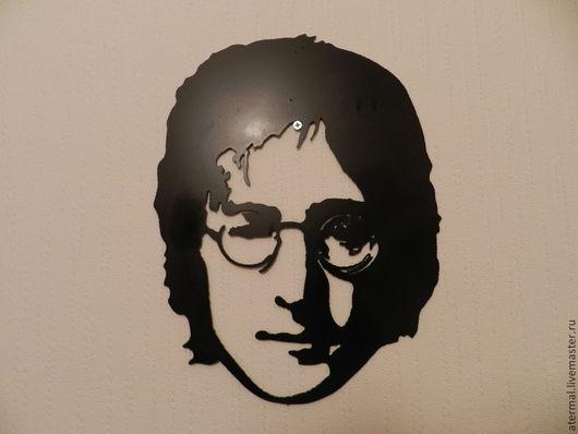 Элементы интерьера ручной работы. Ярмарка Мастеров - ручная работа. Купить Джон Леннон. Handmade. Черный, плазменная резка чпу