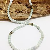Работы для детей, handmade. Livemaster - original item Beads of mint green jade 53 cm. Handmade.