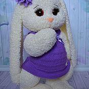 Куклы и игрушки ручной работы. Ярмарка Мастеров - ручная работа Зайка вязаная Алиса. Handmade.