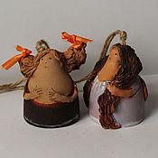 """Сувениры и подарки ручной работы. Ярмарка Мастеров - ручная работа Колокольчики """" Милые горожанки"""". Handmade."""